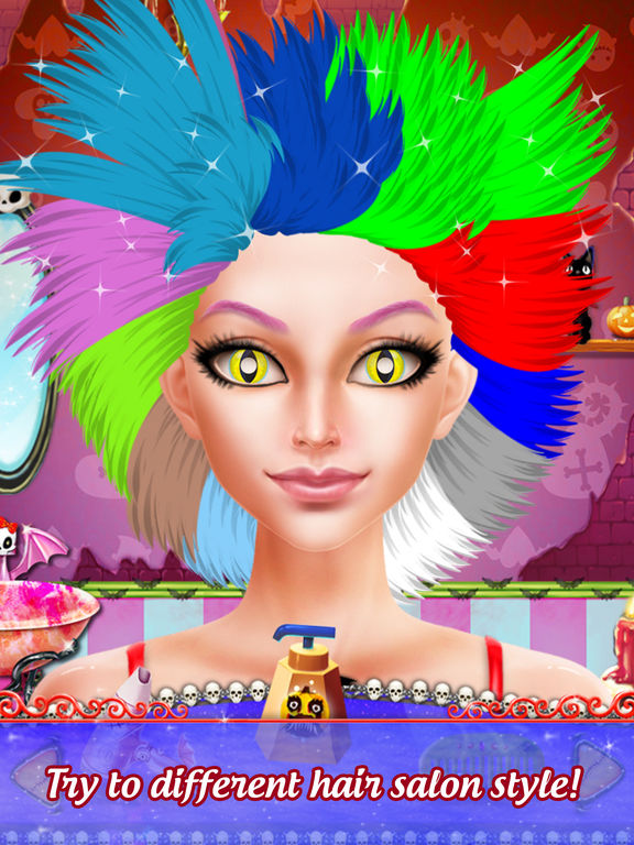 Pretty Halloween Girls Makeup screenshot 7