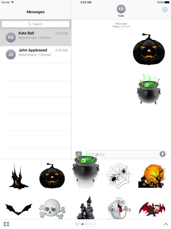 Halloween Creepy Stickers for iMessage screenshot 10