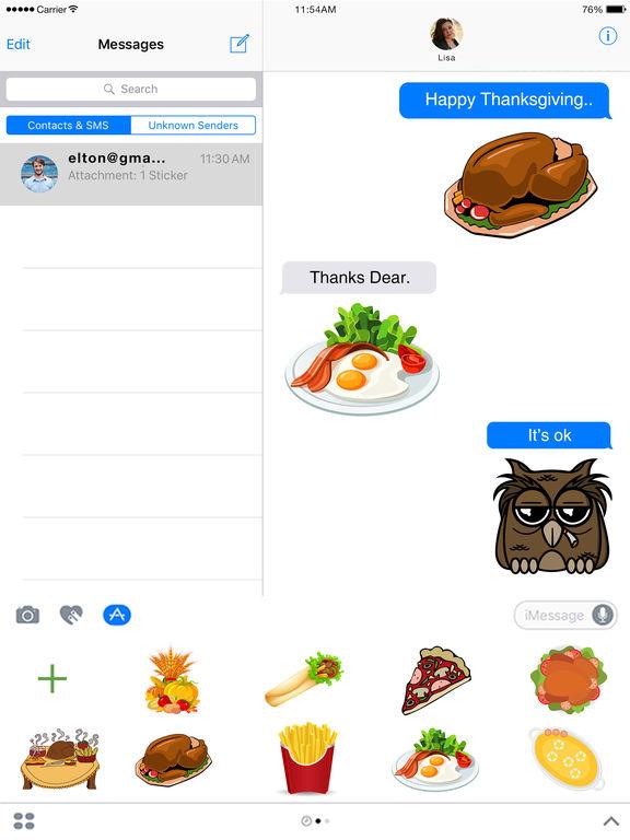 Food Stickers - Thanksgiving Food Emoji screenshot 5