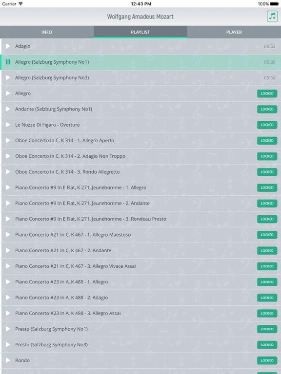 Wolfgang Mozart - Classical Music screenshot 7