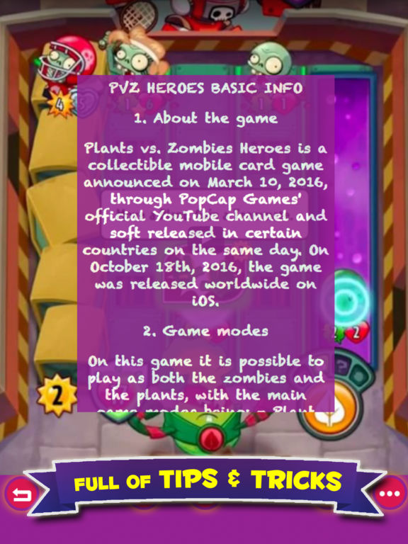 Free Guide For Plants vs. Zombies Heroes screenshot 5
