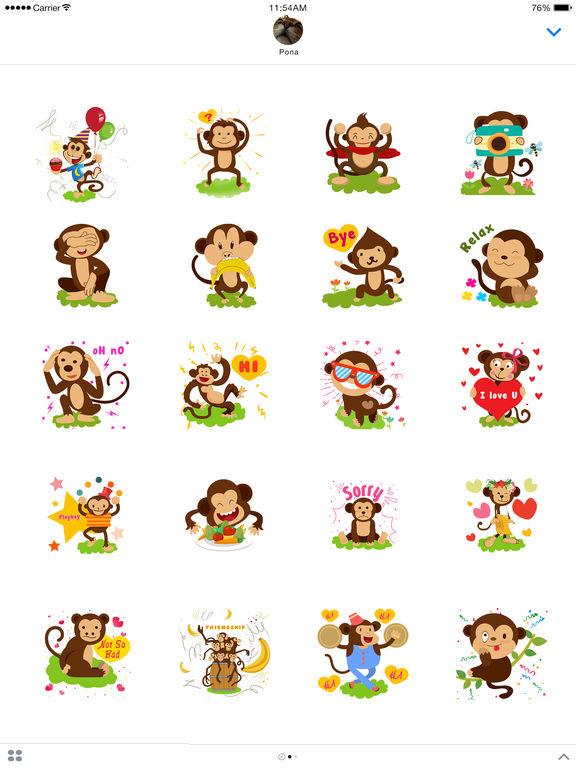 Monkey Emoji - Monkey Stickers for iMessage screenshot 4