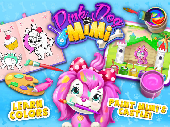 Pink Dog Mimi - My Virtual Pet - No Ads screenshot 6