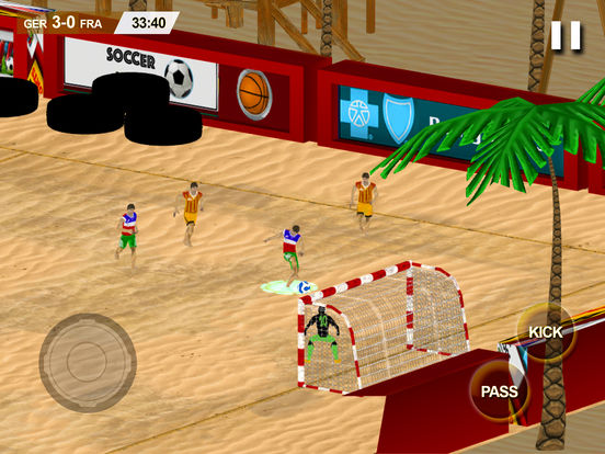 Beach Soccer 2k17 - ultimate mobile soccer hero 3D screenshot 6