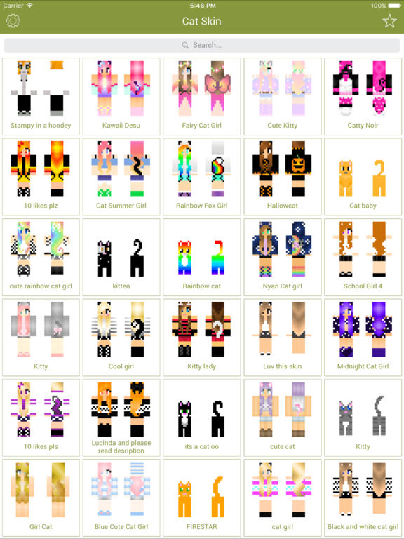 Cat Skins New Skins For Minecraft Pe Pc Apps 148apps