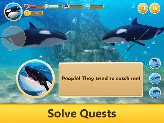Ocean Whale Orca Simulator: Animal Quest 3D Full screenshot 8