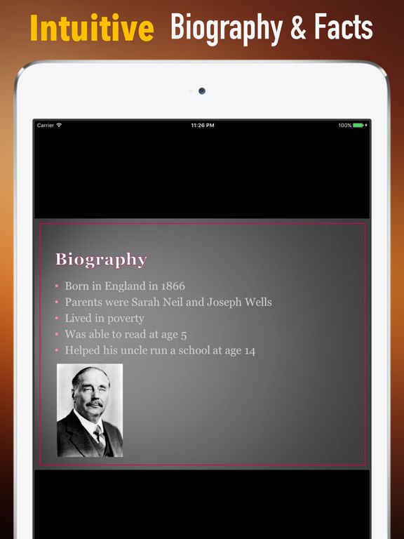 Biography and Quotes for H. G. Wells screenshot 6