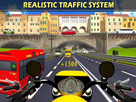 Moto X-Bike Traffic Racer : High-way Down-Hill 3D screenshot 6