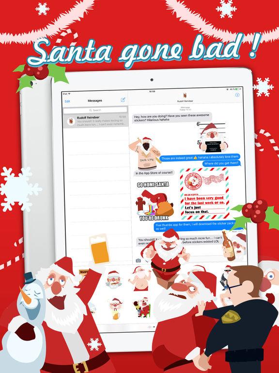 Shocking Santa - Santa Claus Gone Bad Stickers screenshot 7