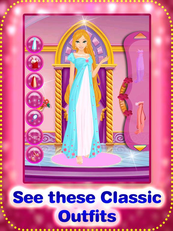 Princess dress up planner - cute princess dress up games for girls screenshot 10