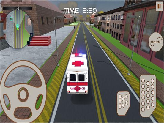 Ambulance Rescue : 3D Simulation Game 2016 screenshot 6