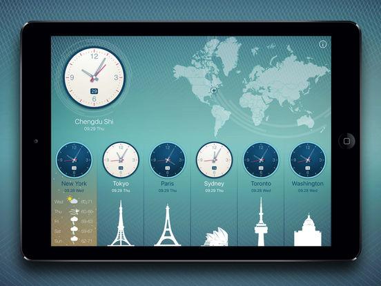 World Clock 2 for colorful clock, world map, time screenshot 9