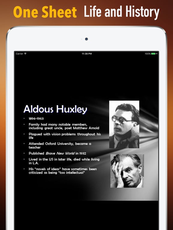 Biography and Quotes for Aldous Huxley screenshot 7