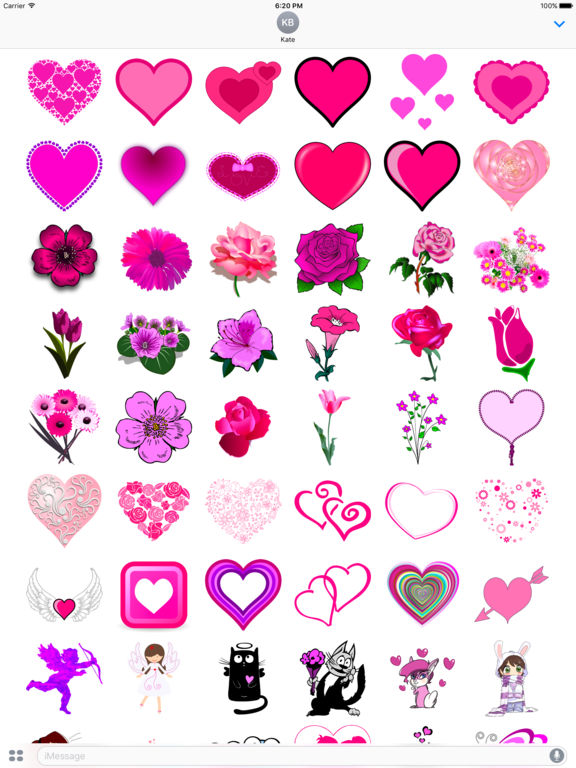 Pink Love • Emoji and stickers screenshot 6