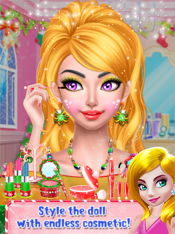 Christmas Doll Makeover Salon screenshot 7