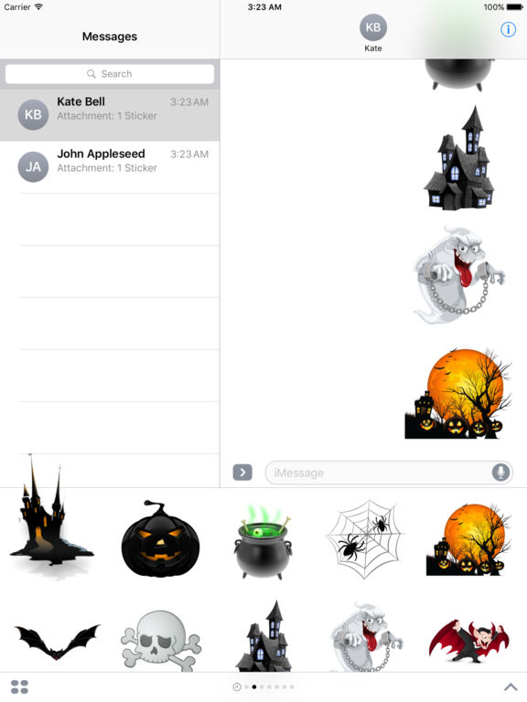 Halloween Creepy Stickers for iMessage screenshot 6
