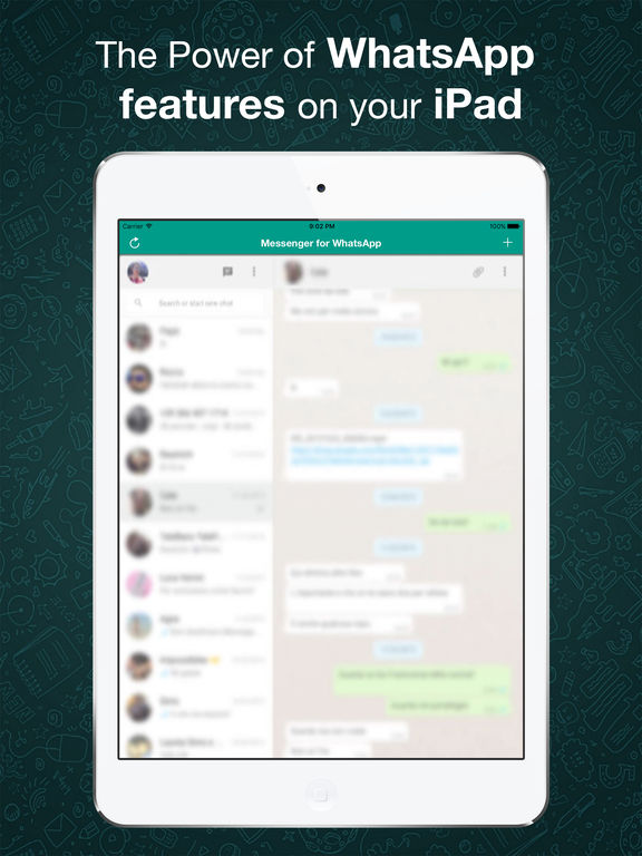 Messenger for WhatsApp for iPad screenshot #1