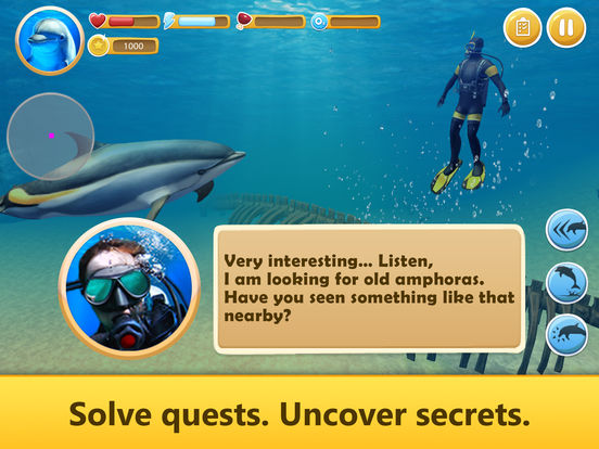 Ocean Dolphin Simulator: Animal Quest 3D Full screenshot 7