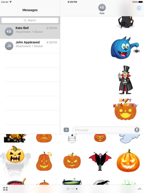 Halloween Freaky Stickers for iMessage screenshot 10