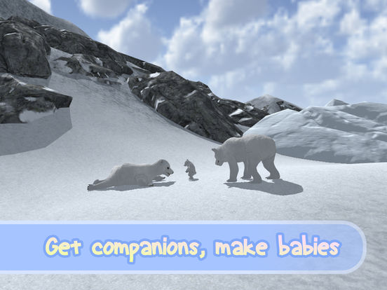 Wild White Polar Bear Simulator screenshot 6