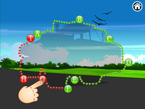Trucks - Connect Dots for preschoolers screenshot 9