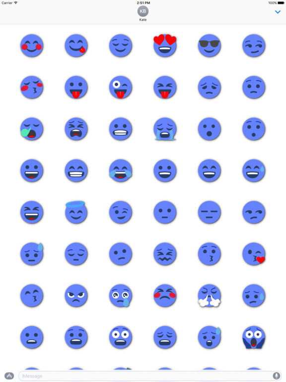 BLUE Emoji • Stickers screenshot 6