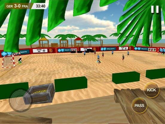 Beach Soccer 2k17 - ultimate mobile soccer hero 3D screenshot 7