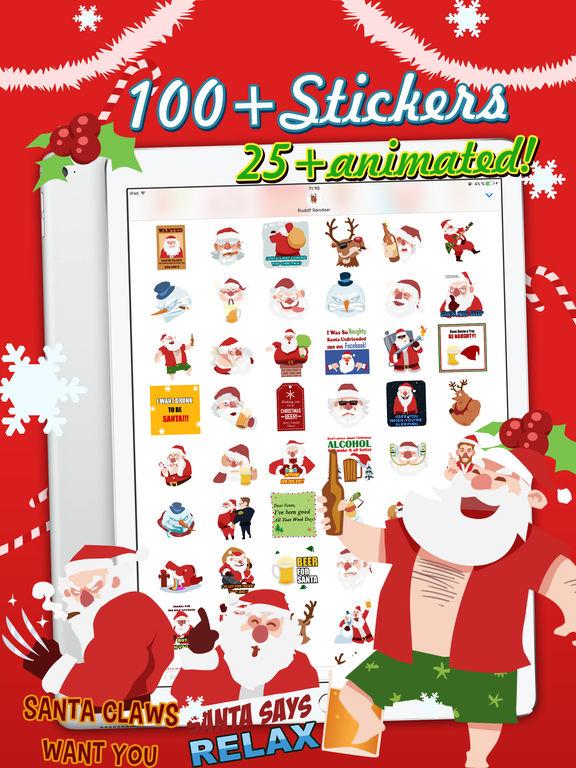 Shocking Santa - Santa Claus Gone Bad Stickers screenshot 6