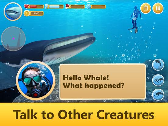 Ocean Whale Simulator: Animal Quest 3D screenshot 7