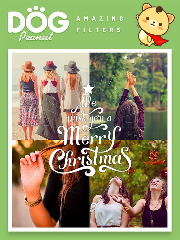Peanut Dog Collage - Christmas and New Year Emoji screenshot 9
