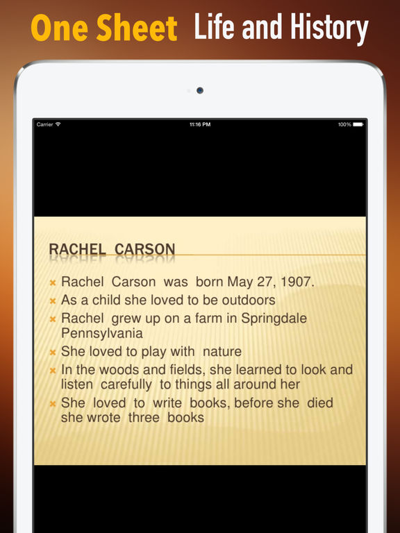 Biography and Quotes for Rachel Carson: Life screenshot 7