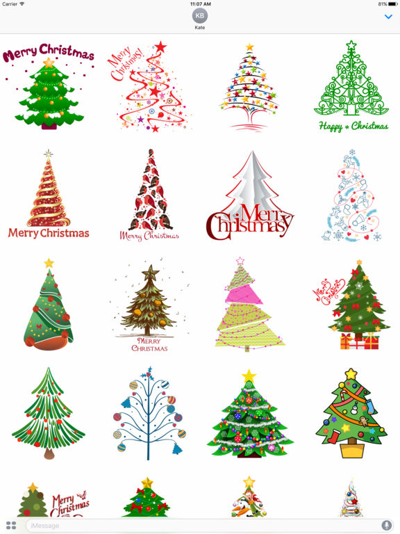 Christmas Tree Stickers for iMessage screenshot 4