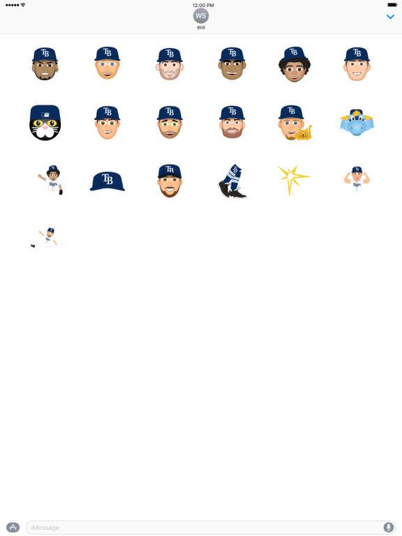 Tampa Bay Rays 2016 MLB Sticker Pack screenshot 3