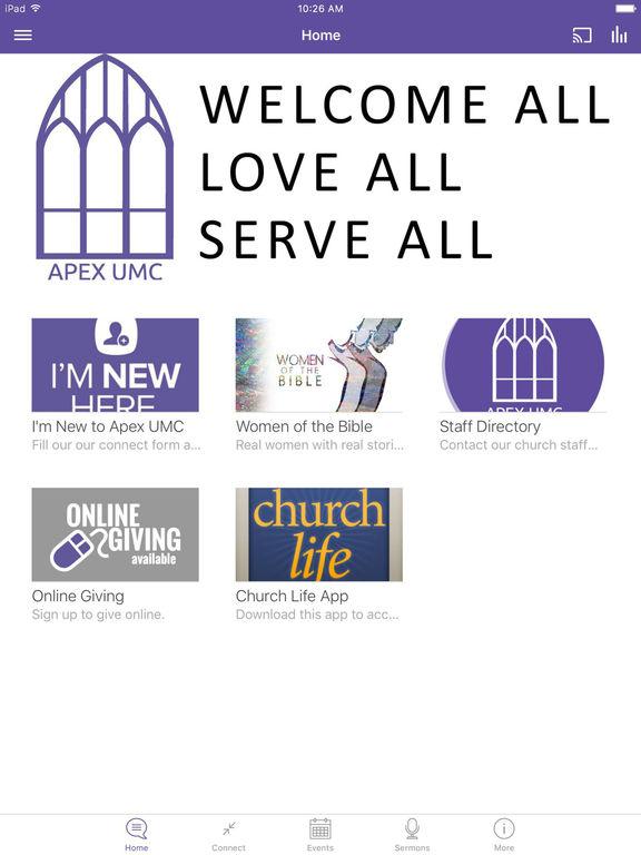 Apex United Methodist Church screenshot 4