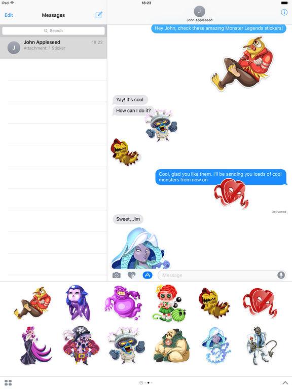 Monster Legends Stickers screenshot 4