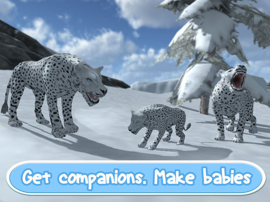 Wild Snow Leopard: Animal Simulator screenshot 7
