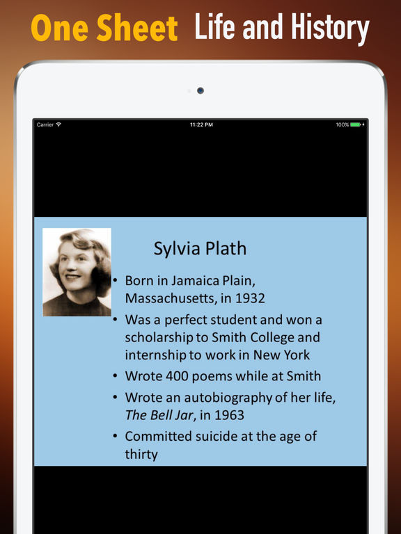 Biography and Quotes for Sylvia Plath screenshot 7