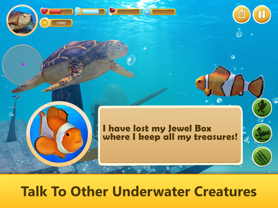 Ocean Turtle Simulator: Animal Quest 3D Full screenshot 8