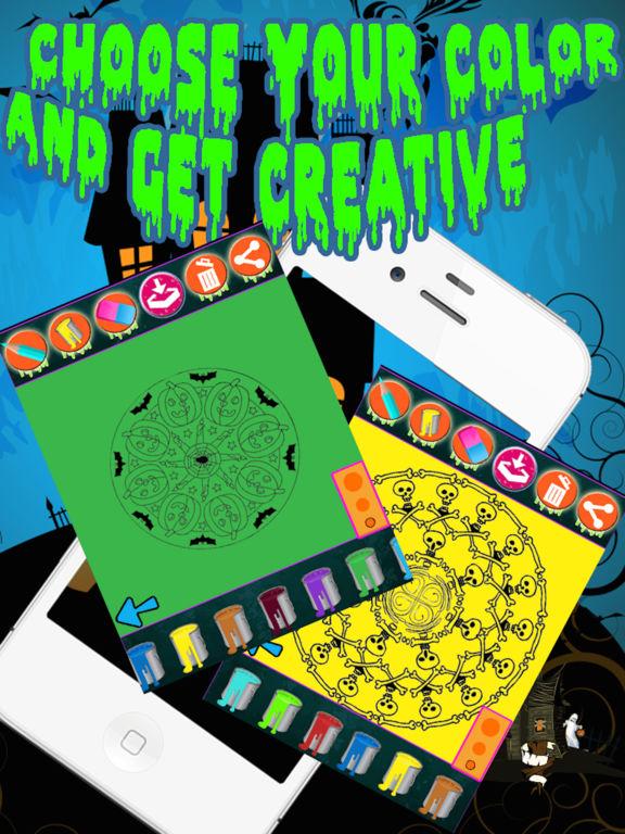 Halloween Mandala Coloring screenshot 7