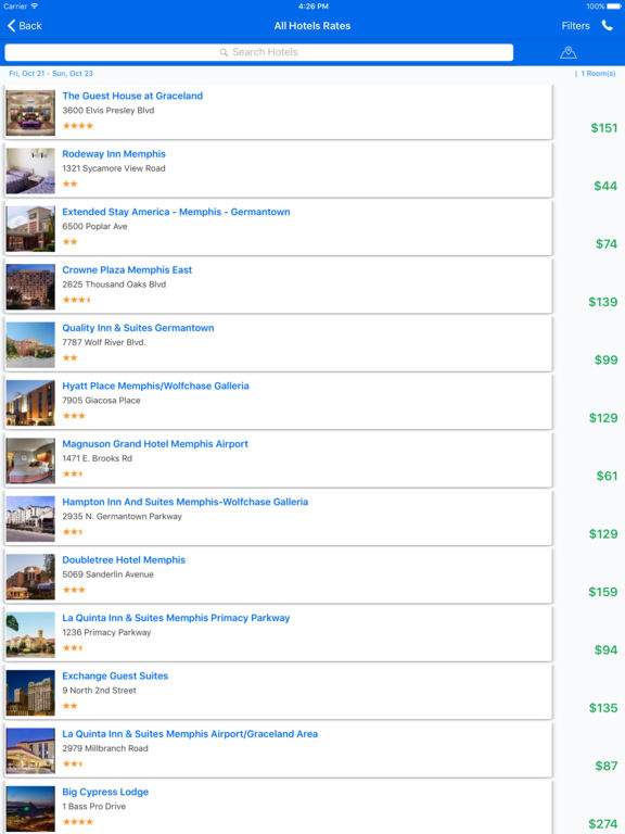 i4memphis - Memphis Hotels, Yellow Pages Directory screenshot 7