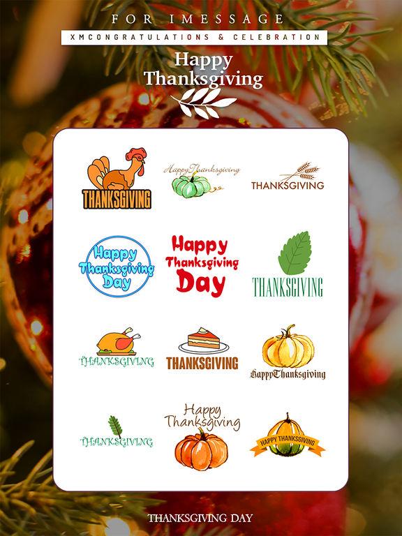 Thanksgiving Day Emoji Pro - Holiday Stickers screenshot 9