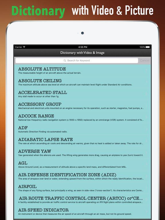 Aviation and Flight Training Dictionary screenshot 9