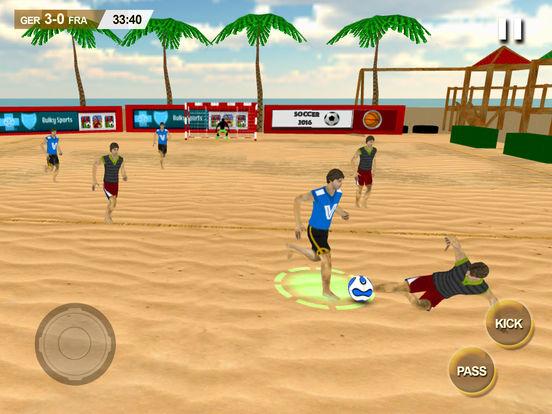 Beach Soccer 2k17 - ultimate mobile soccer hero 3D screenshot 9