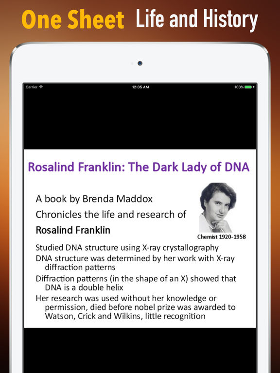 Biography and Quotes for Rosalind Franklin screenshot 7