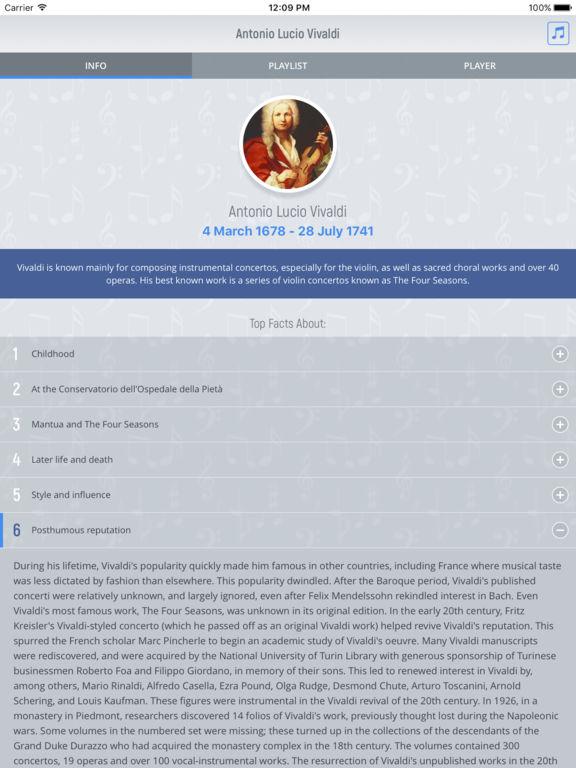 Antonio Vivaldi - Classical Music screenshot 5