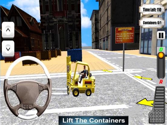 Forklifter Simulator 2016 : Container Cargo Lifter screenshot 4