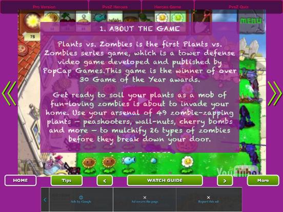 Full Guide - Plants vs. Zombies Heroes + 2 + 1 Pro screenshot 4