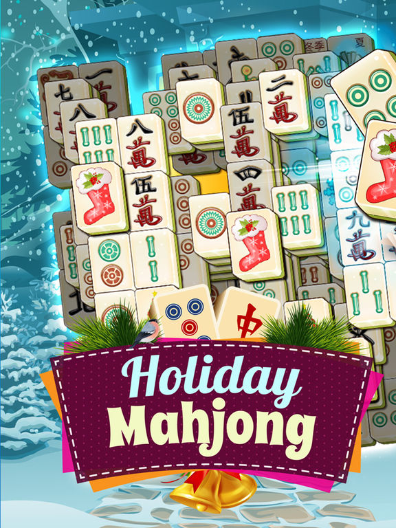 Holiday Mahjong 3D - Magic Christmas Puzzle Deluxe screenshot 6