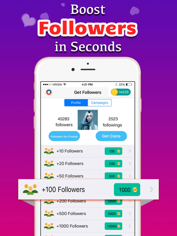 instagram likes coins app