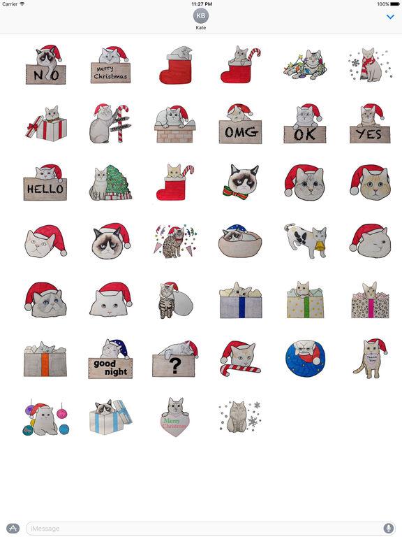 Cute Cats Merry Christmas Stickers screenshot 4